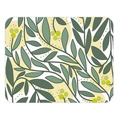 Green floral pattern Double Sided Flano Blanket (Large)