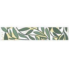 Green floral pattern Flano Scarf (Large)