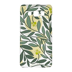 Green floral pattern Samsung Galaxy A5 Hardshell Case