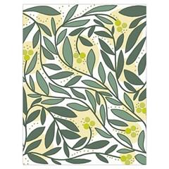 Green floral pattern Drawstring Bag (Large)