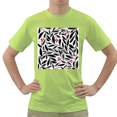 Red, black and white elegant pattern Green T-Shirt