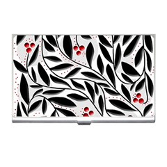 Red, black and white elegant pattern Business Card Holders