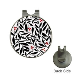 Red, black and white elegant pattern Hat Clips with Golf Markers