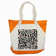 Red, black and white elegant pattern Accent Tote Bag