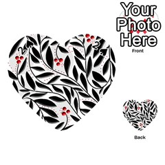 Red, Black And White Elegant Pattern Playing Cards 54 (heart)