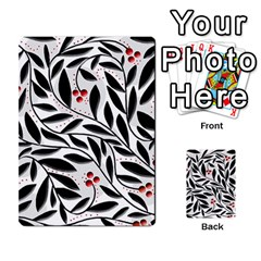 Red, black and white elegant pattern Multi-purpose Cards (Rectangle)