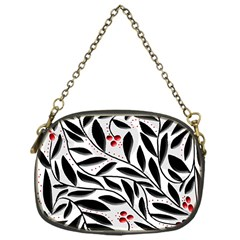 Red, black and white elegant pattern Chain Purses (One Side)