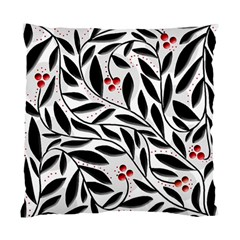 Red, black and white elegant pattern Standard Cushion Case (Two Sides)