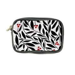 Red, black and white elegant pattern Coin Purse