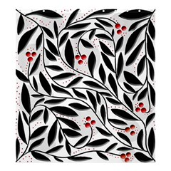 Red, black and white elegant pattern Shower Curtain 66  x 72  (Large)