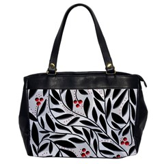 Red, black and white elegant pattern Office Handbags