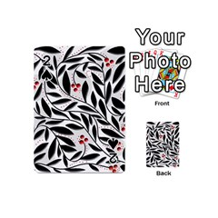 Red, black and white elegant pattern Playing Cards 54 (Mini)