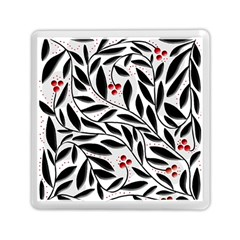 Red, black and white elegant pattern Memory Card Reader (Square)