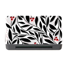 Red, black and white elegant pattern Memory Card Reader with CF