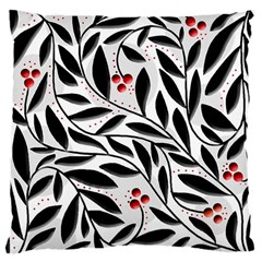 Red, black and white elegant pattern Large Cushion Case (Two Sides)