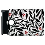 Red, black and white elegant pattern Apple iPad 2 Flip 360 Case Front