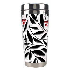 Red, black and white elegant pattern Stainless Steel Travel Tumblers