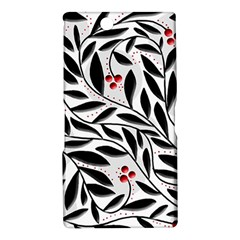 Red, black and white elegant pattern Sony Xperia Z Ultra