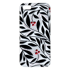 Red, black and white elegant pattern iPhone 5S/ SE Premium Hardshell Case