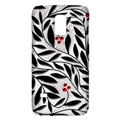 Red, black and white elegant pattern Galaxy S5 Mini