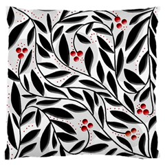 Red, black and white elegant pattern Standard Flano Cushion Case (One Side)