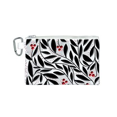 Red, black and white elegant pattern Canvas Cosmetic Bag (S)