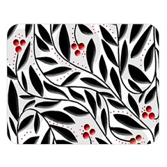 Red, black and white elegant pattern Double Sided Flano Blanket (Large)