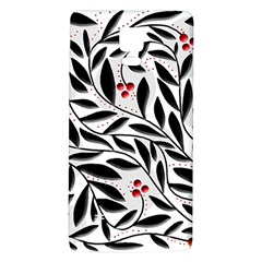 Red, black and white elegant pattern Galaxy Note 4 Back Case