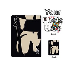 17 Sexy Conte Sketch Girl On Chair Naked Ass Butt Sexy Rear Playing Cards 54 (mini)