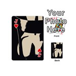 17 Sexy Conte Sketch Girl On Chair Naked Ass Butt Sexy Rear Playing Cards 54 (Mini)  Front - HeartJ