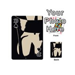 17 Sexy Conte Sketch Girl On Chair Naked Ass Butt Sexy Rear Playing Cards 54 (Mini)  Front - Spade10
