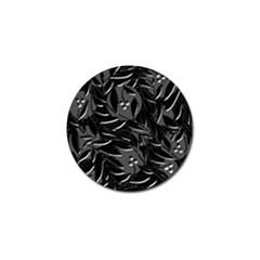 Black floral design Golf Ball Marker (4 pack)
