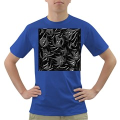 Black floral design Dark T-Shirt