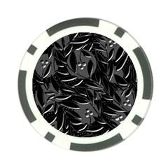 Black floral design Poker Chip Card Guards