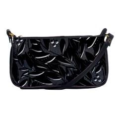 Black floral design Shoulder Clutch Bags