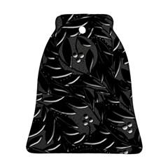 Black floral design Ornament (Bell)