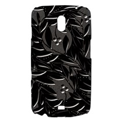 Black floral design Samsung Galaxy Nexus i9250 Hardshell Case