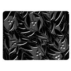 Black floral design Kindle Fire (1st Gen) Flip Case