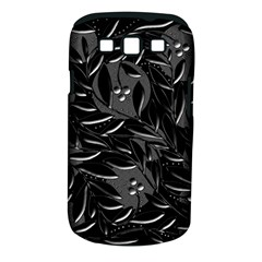 Black floral design Samsung Galaxy S III Classic Hardshell Case (PC+Silicone)