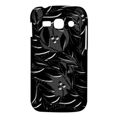 Black floral design Samsung Galaxy Ace 3 S7272 Hardshell Case