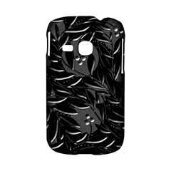 Black floral design Samsung Galaxy S6310 Hardshell Case