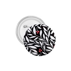 Black, red, and white floral pattern 1.75  Buttons