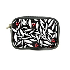 Black, red, and white floral pattern Coin Purse