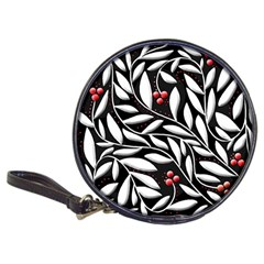 Black, red, and white floral pattern Classic 20-CD Wallets