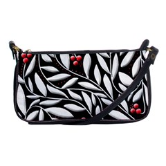 Black, red, and white floral pattern Shoulder Clutch Bags