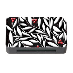 Black, red, and white floral pattern Memory Card Reader with CF