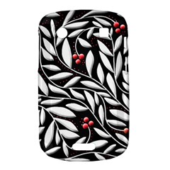 Black, red, and white floral pattern Bold Touch 9900 9930