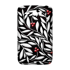 Black, red, and white floral pattern HTC ChaCha / HTC Status Hardshell Case