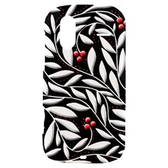 Black, red, and white floral pattern HTC Amaze 4G Hardshell Case