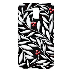 Black, red, and white floral pattern Samsung Galaxy S II Skyrocket Hardshell Case